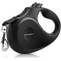 URPOWER Upgraded Retractable Dog Leash 16ft Nylon Ribbon Dog Leashes with One Button Brake & Lock, Comfortable Hand Grip, Tangle Free, Heavy Duty Pet Leashes Dog Walking Leash