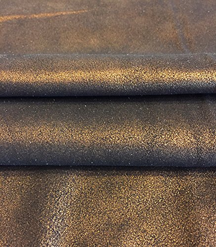 Leather Metallic Calfskin (Best Quality Leather Hide - Spanish Full Skin - Copper Metallic Color - 6 sq ft - 2 oz. avg Thickness - Metallic Finish - Calfskin - Improve The Look of Your Projects Now!)