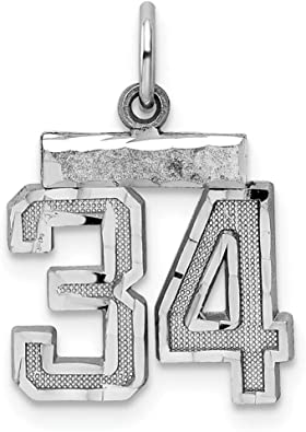 925 Sterling Silver Medium Number 25 Pendant Charm Necklace Sport Fine Jewelry Gifts For Women For Her
