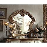 Acme Furniture 23004 Vendome Mirror, Gold Patina/Bone