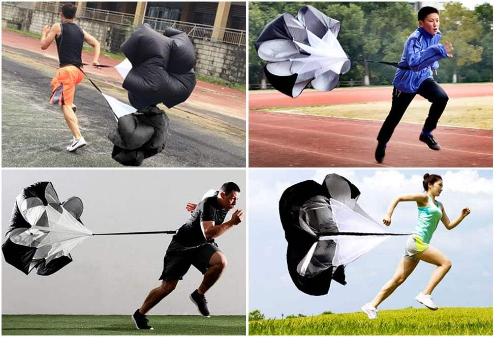 Running Speed Training for Kids Youth and Adults 56 inch Speed Training Resistance Parachute with Adjustable Strap Free Carry Bag for Runner Football Soccer Drilling : Sports & Outdoors