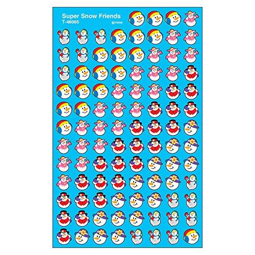 (TREND enterprises, Inc. Super Snow Friends superShapes Stickers, 800 ct )