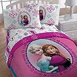 Frozen Twin Bedding Set Anna Elsa Snowflake Comforter Sheets