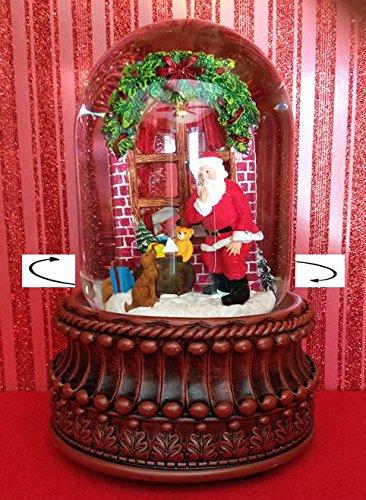本物 Snow Globes Musical – クリスマスDelivery Revolving Musical Santa Snow Globe Revolving – Santa Snowglobe B0127PSXSG, MOGGIE CO-OP:3c5e369c --- irlandskayaliteratura.org
