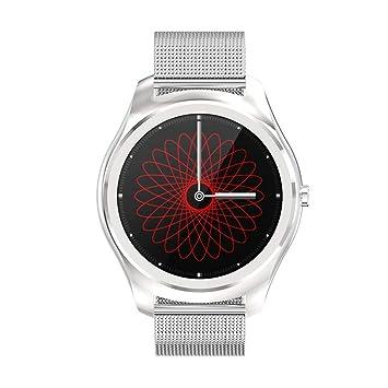 UTHDELD Smartwatch Correa de Correa de Reloj de Pulsera de Cuero de reemplazo para Reloj Inteligente Q8 N3 Pro, Correa de Cuero Azul: Amazon.es: Deportes y ...