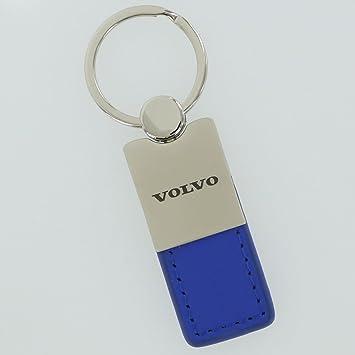 Volvo llavero de piel azul: Amazon.es: Coche y moto