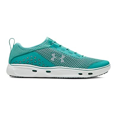 d7402f98d6a Under Armour Women's Kilchis Sneaker, Azure Teal (301)/Onyx White, 6