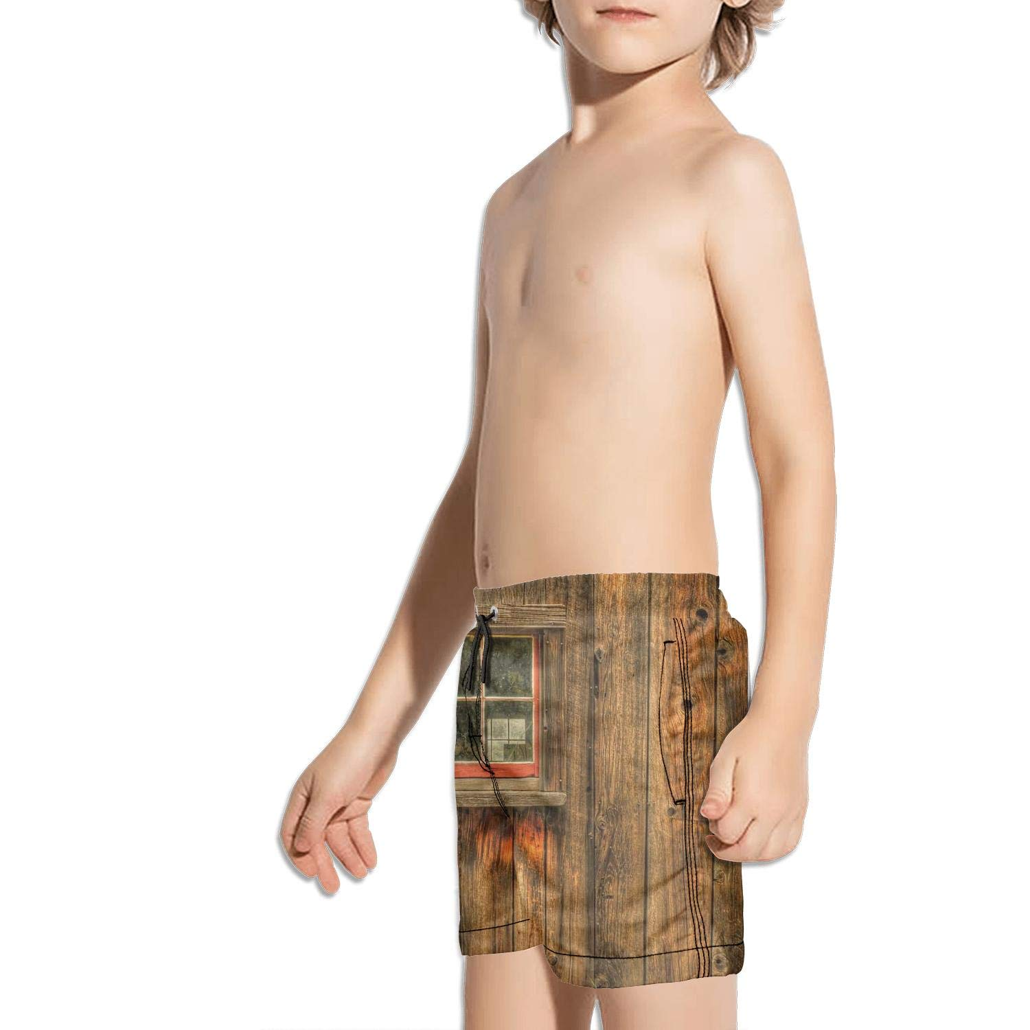 etstk Rustic Wooden barn Farmhouse Rural Kids Lightweight Shorts for Men