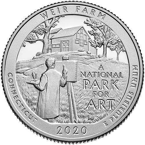 2020 S Clad Proof Weir Farm Connecticut National Park NP Quarter GEM Proof US Mint