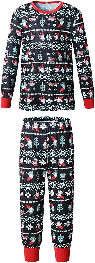 Mujeres Hombres Niños Navidad Familia Pijamas Conjuntos Navidad Precioso Copo de Nieve y Santa Impreso Ropa de Dormir Ropa de Dormir Ropa de Dormir ...