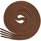 """Thin Round Dress Shoelaces [3 Pairs] 3/32"""" Thick - Premium Quality - By Miscly (36"""", Brown)"""
