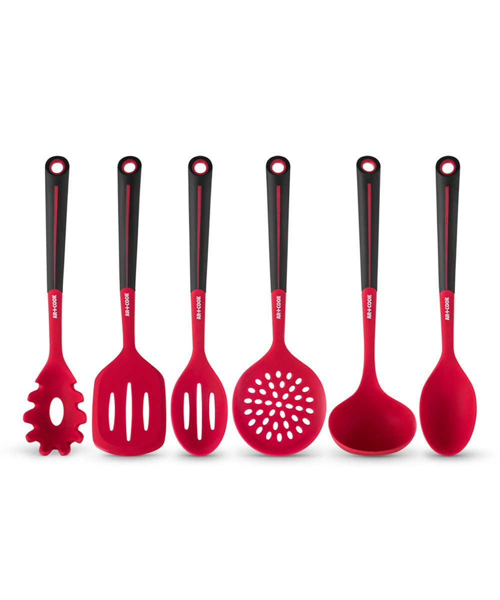 Art and Cook 6 Piece Silicone Utensil Set, Blue ACS0368