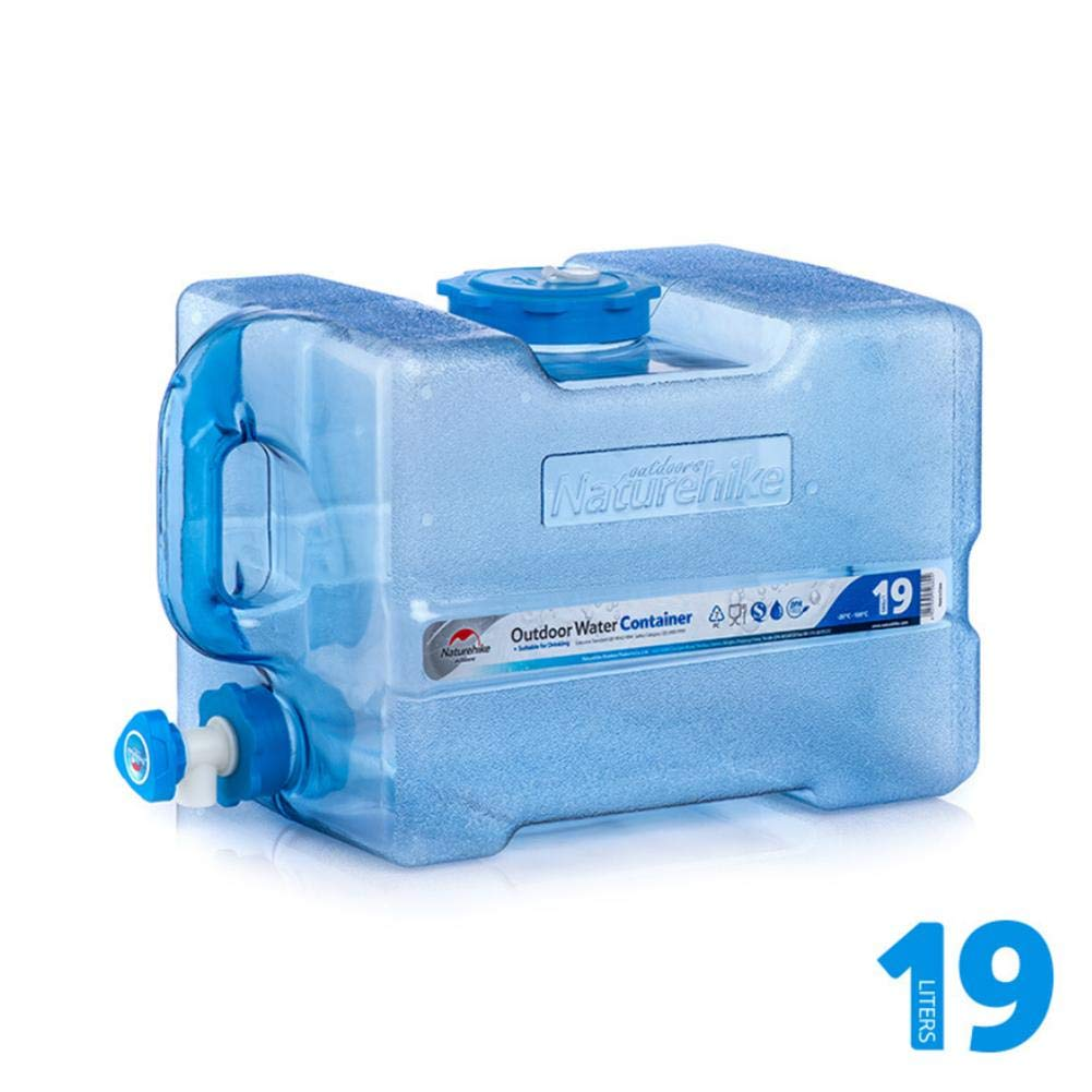 Dream-cool 12/15/19L Water Container Portable Outdoor Portable Drinking Pure Tank With Tap Car Equipment Buckets Travel Home Emergency Drinking Storage Bucket Camping Kettle