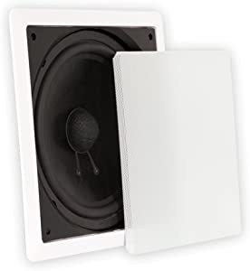 Theater Solutions TS1000 in Wall Surround Sound HD Home Theater Passive Subwoofer White