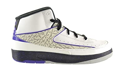 f307582ae24e Jordan 2 Retro (BP) Little Kids Shoes White Dark Concord-Black-