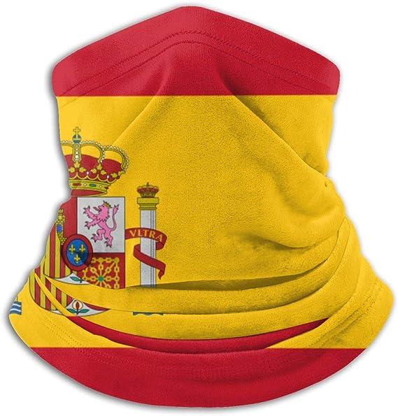 WHFSYGS Polaina con cuello de bandera de España, sombreros, mascarilla facial, bufanda mágica, pañuelo, pasamontañas, diadema: Amazon.es: Ropa y accesorios