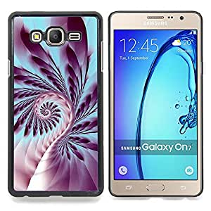 """Qstar Arte & diseño plástico duro Fundas Cover Cubre Hard Case Cover para Samsung Galaxy On7 O7 (Helecho Plant Life espiral Símbolo púrpura del arte"""")"""