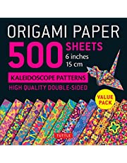 """Origami Paper 500 sheets Kaleidoscope Patterns 6"""" (15 cm): Tuttle Origami Paper: High-Quality Double-Sided Origami Sheets Printed with 12 Different Designs (Instructions for 6 Projects Included)"""