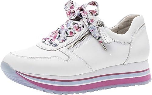 Gabor 26.448 Damen Sneaker,Low Top Sneaker, Frauen,Business Sneaker,Halbschuh,Schnürschuh,Strassenschuh,sportlich,Freizeitschuh,Comfort Mehrweite,Opti