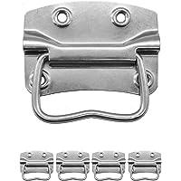 FUXXER® - 4x metalen handgrepen, ijzeren handgrepen voor kisten, kisten, koffers, racks inklapbaar (80 x 58 mm)