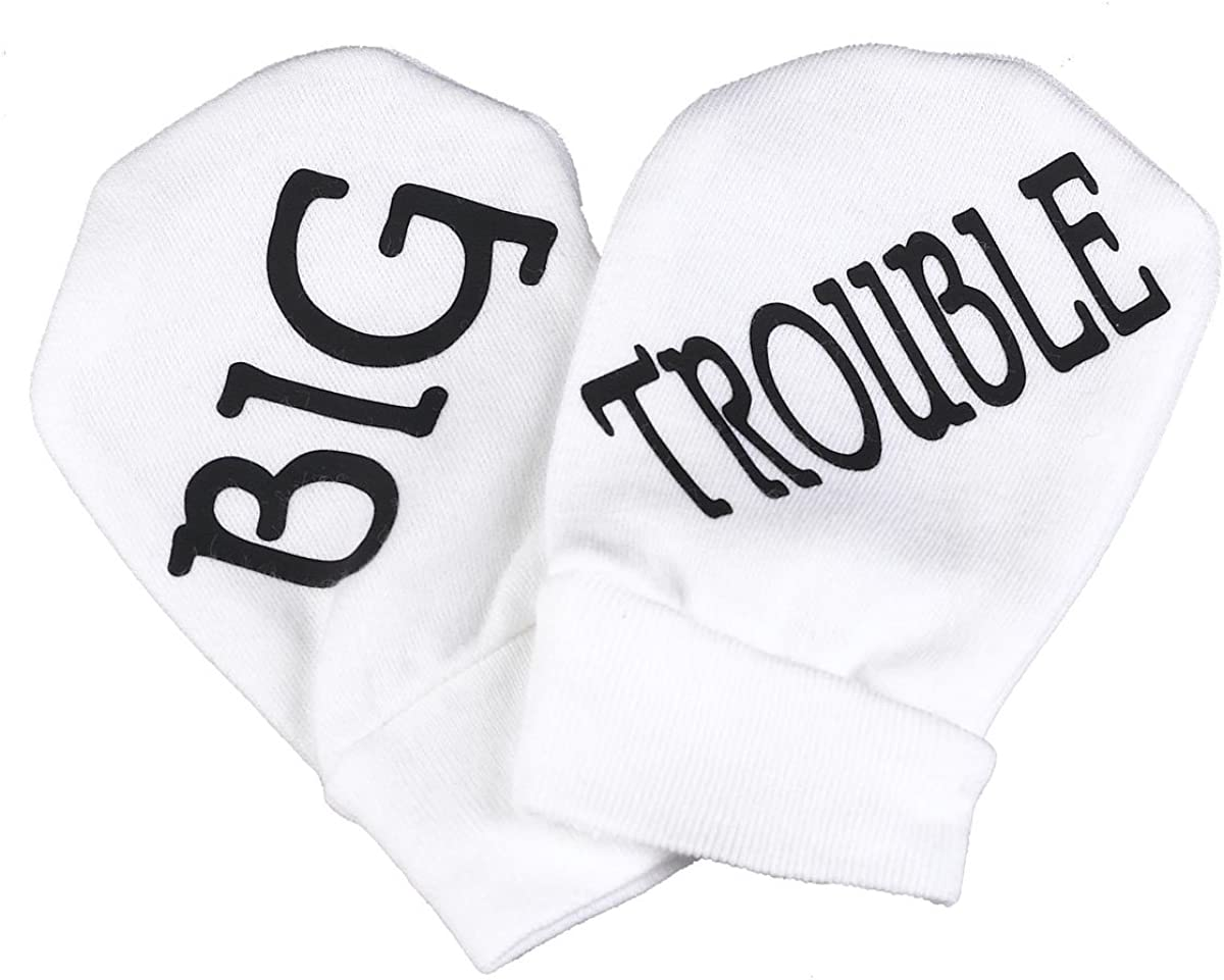 Spoilt Rotten - Big Trouble 100% Organic Cotton Baby Mittens Baby Present