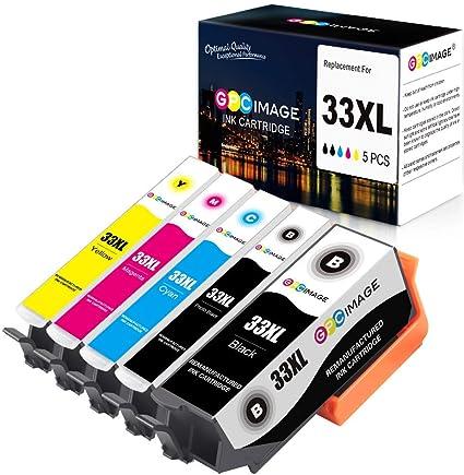 GPC Image 33XL Cartucho de Tinta Compatible para Epson 33XL 33 XL ...