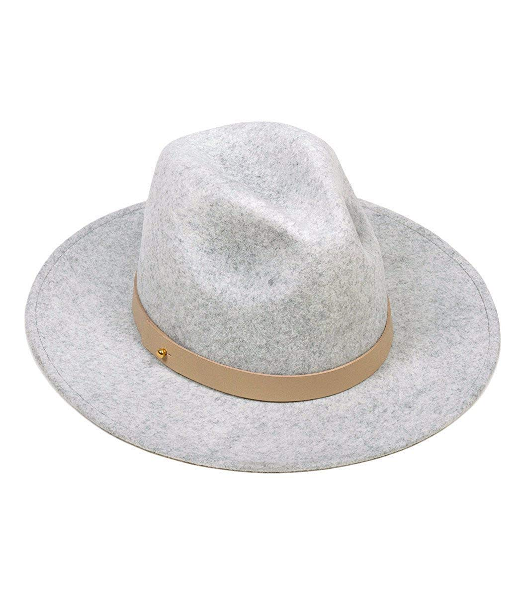 Lack of Color Women's The Mack Classic Luxe Fedora (Light Stone-Wash Speckled Grey, MD (57cm))