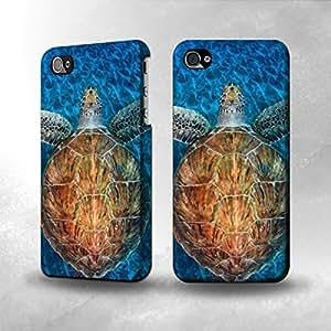 Apple iPhone 5 / 5S Case - The Best 3D Full Wrap iPhone Case - Blue Sea Turtle