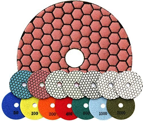 RockMaster E-Pad 4'' Diamond Marble & Granite Polishing Pad Set (Granite Resin compare prices)