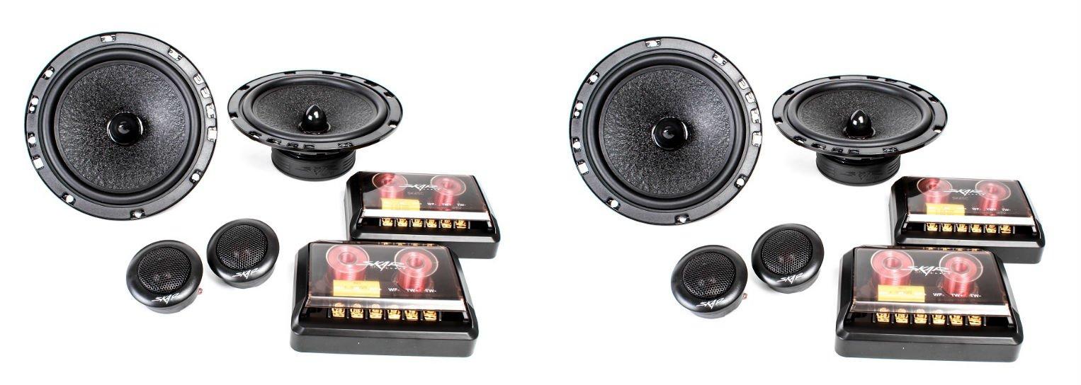 (2) Skar Audio SK65C Performance 6.5-Inch 2-Way Component Speaker System - (2) Pairs