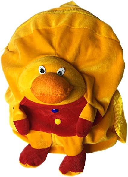 Symbolic Cute Duck Short Plush Backpack Cartoon Toy Ideal for Childrens Gifts Boy/Girl/Baby/Student/Kids