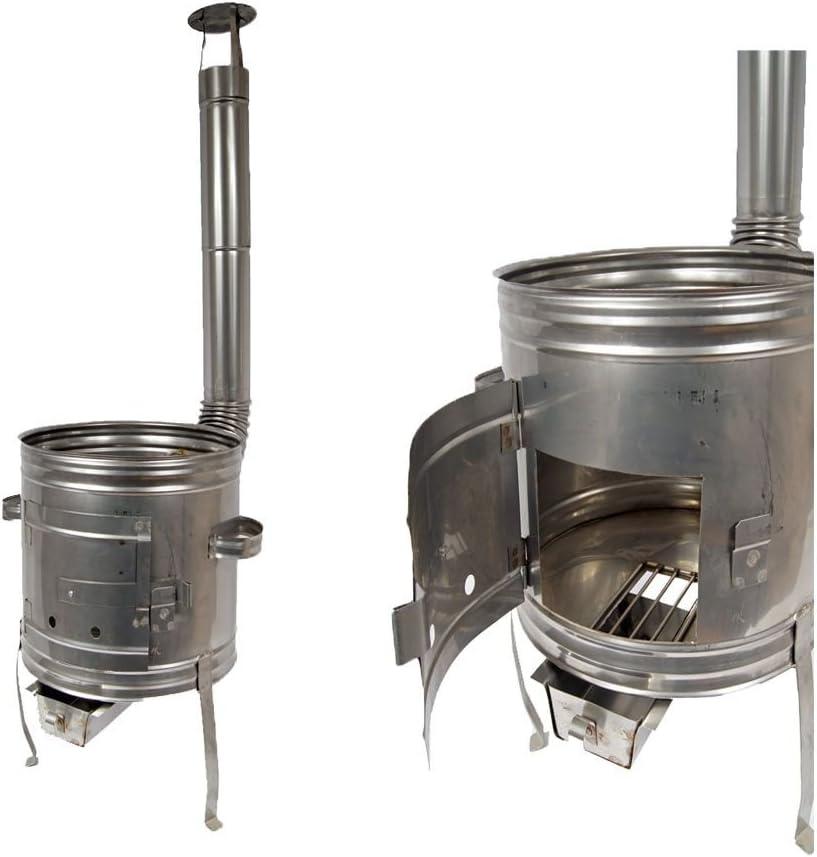 Gulaschkessel 10L Metall Ofen Holzofen Gulaschkanone Gulaschofen 31 für Ung