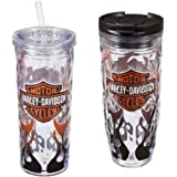 Harley Davidson Bar and Shield Hot and Cold Travel Cup Set