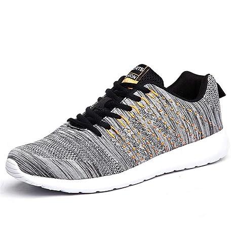 d014ca0a01d82 Amazon.com : LUCKY-U Men Running Shoes, Lightweight Comfortable ...
