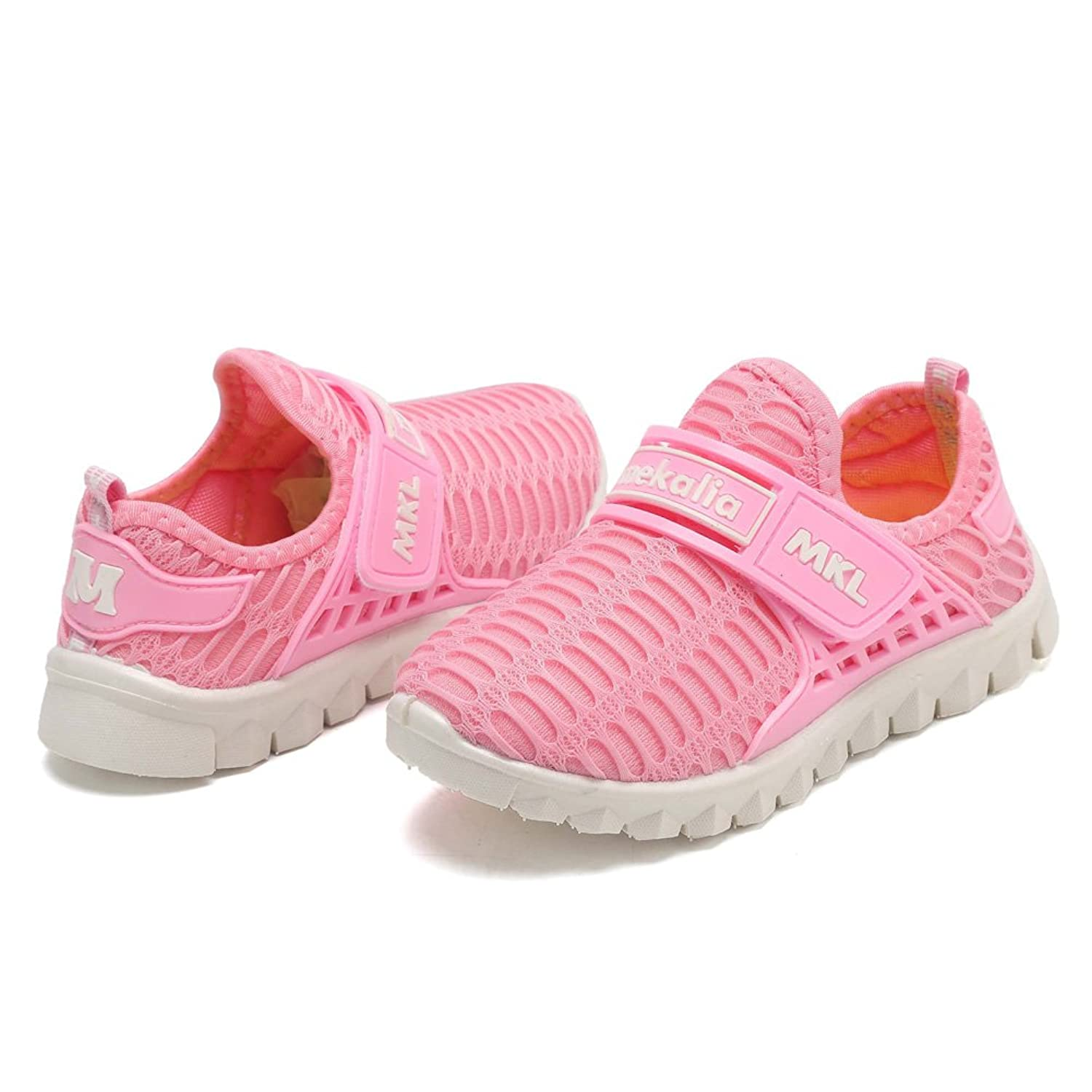 CIOR Boys Girls Breathable Lightweight Sneakers Antislip Shoes For Running Walking Toddler/Little Kid/Big Kid SC176 Pink 31 py9s6RCKX