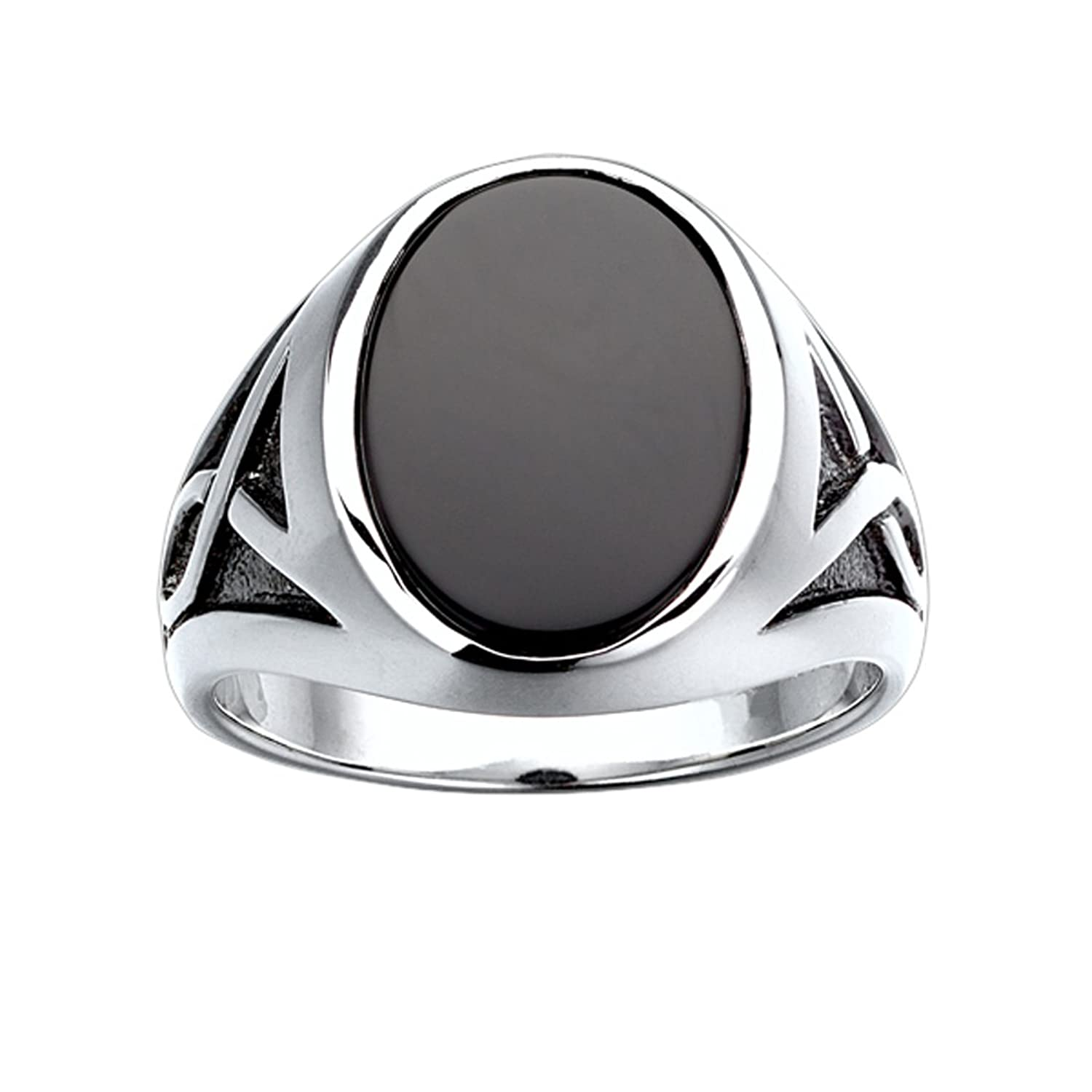 Mens sterling silver onyx ring with black rhodium accent detail mens sterling silver onyx ring with black rhodium accent detailamazon nvjuhfo Images