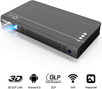 Mini proyector portátil TOUMEI T6, Full HD, WiFi, mini proyector ...