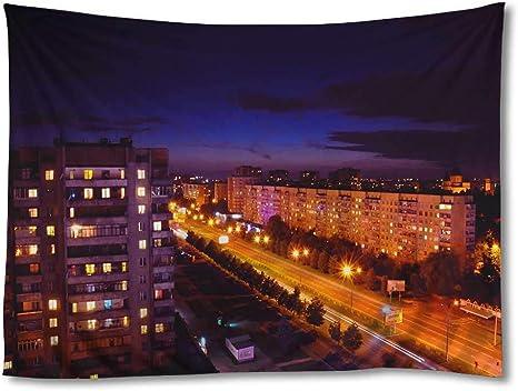 Nightscape Urban print Home Long exposure Wall Art Cityscape Light trails City Lights II Bokeh Contemporary print