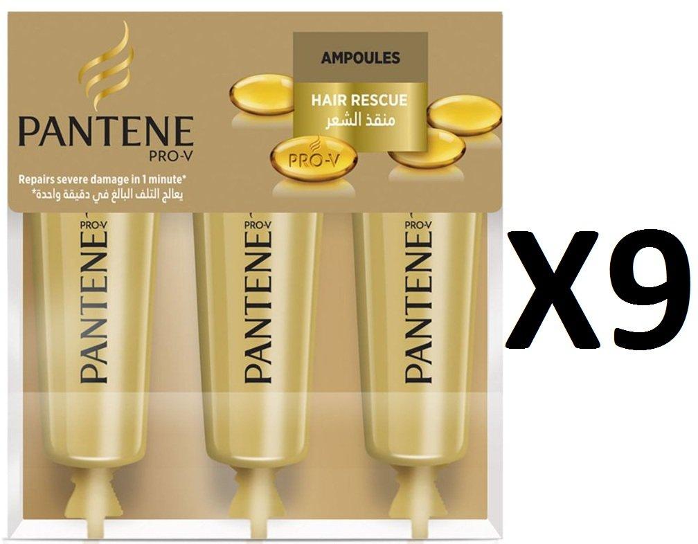 Pantene Pro-V Moisture Renewal Cheveux Rescue ampoule 3x 15ml–Lot de 9