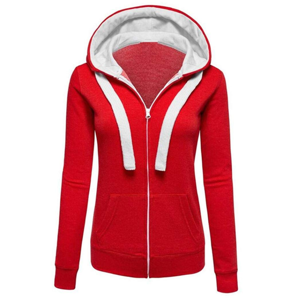 Liraly Womens Coats, Big promotion! New Womens Warm Hoodies Hoody Sweatershirt Hooded Jumper Pullover Coat Jacket Overcoat