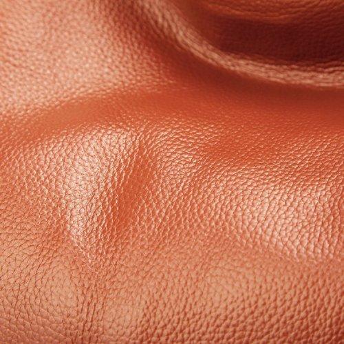 """DUDU - Tolle ital.Schultertasche aus Vollrindleder, 37×28×19 cm """"Madrid"""" (Orange)"""