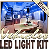 Biltek 2' ft Blue Fishing Storage Compartment LED Strip Lighting Kit - Motorhome Boat Cabin Yacht Compartment Interior Lighting Waterproof DIY 110V-220V