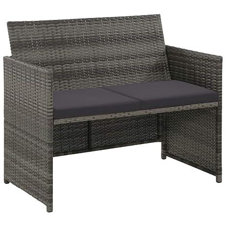 Festnight 2-Sitzer-Sofa | Garten Lounge Sofa | Rattan-Lounge ...
