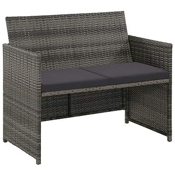 Relativ tidyard Lounge Sofa 2-Sitzer Couch aus Poly Rattan, Wetterfesten FQ29