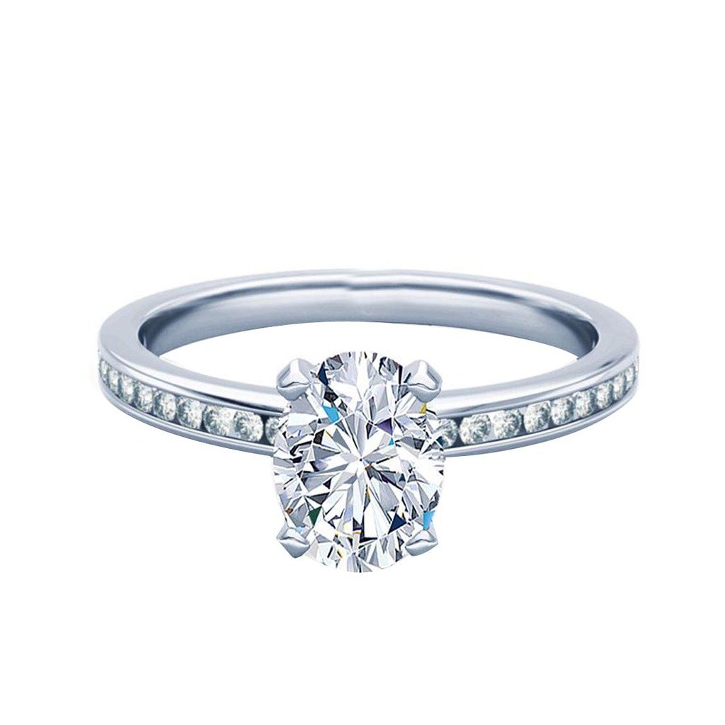 080 Carat Oval Cut Classic Unique Diamond Engagement Ring For Her 14k Solid White Goldcolor Hi Clarity I1i2 Amazon: Gles Chagne Wedding Rings At Websimilar.org