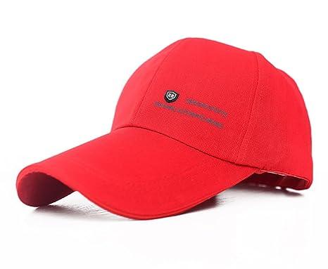 nouveau concept nouveaux produits pour Braderie honour fashion Casquette de Baseball Unicolore Visière Longue Homme