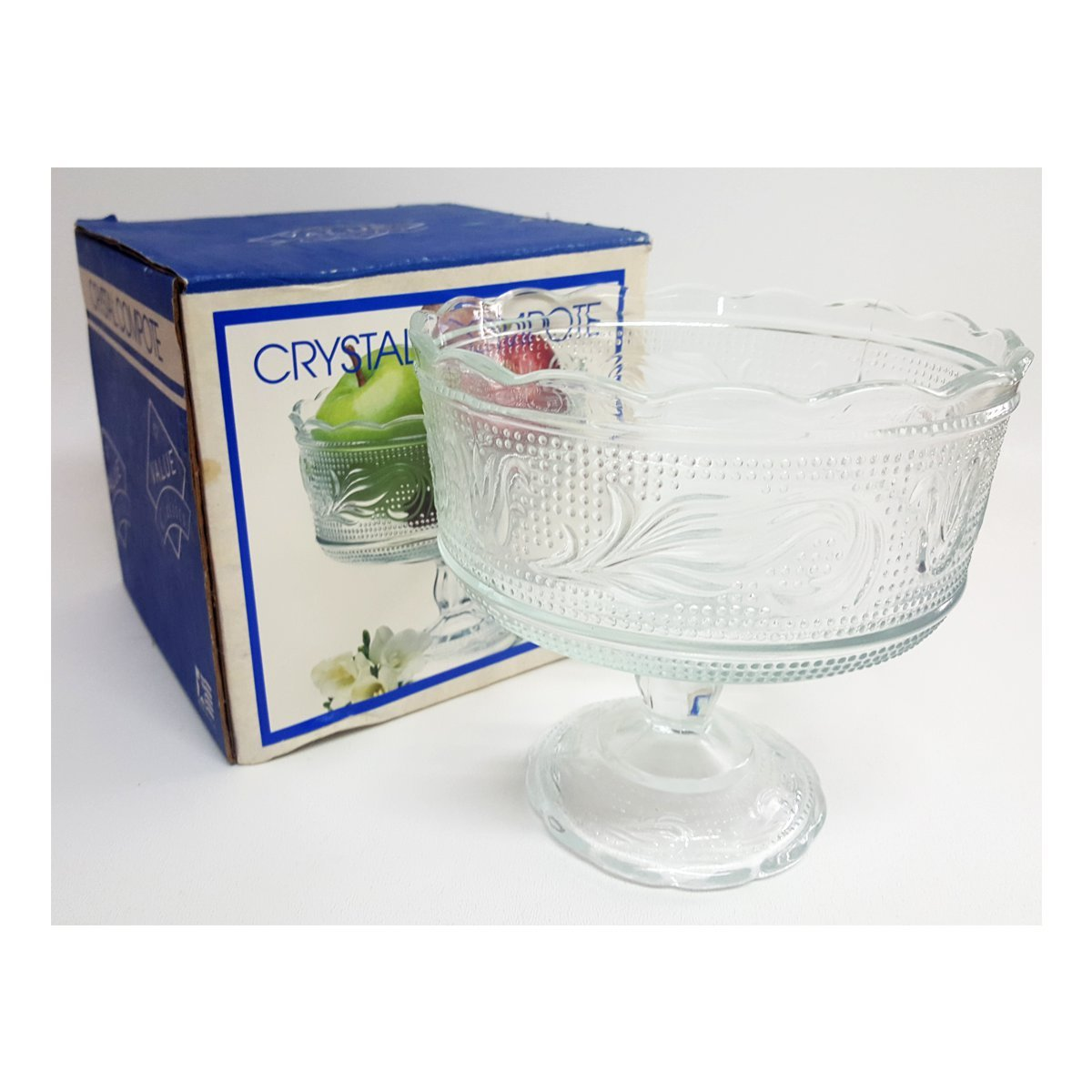 Indiana Glass Crystal Compote 5.5'' Tall