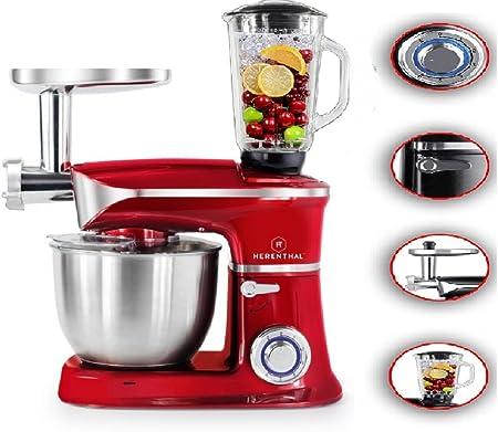 amasadora batidora picadora 3 en 1 robot de cocina 1300 W 6 Velocita 6,5L herenthal Mod ht-pkm1900.7bg: Amazon.es: Hogar