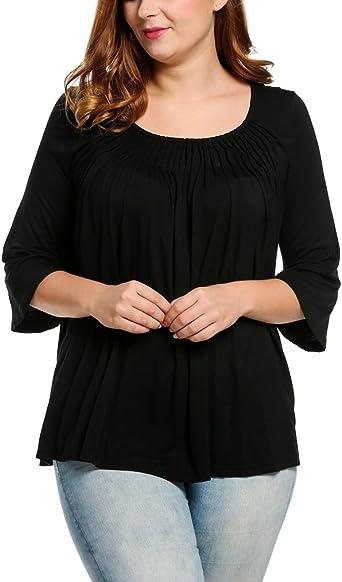 New Women/'s Shirt Blouse Lace Top Grey Stripes XL-3XL