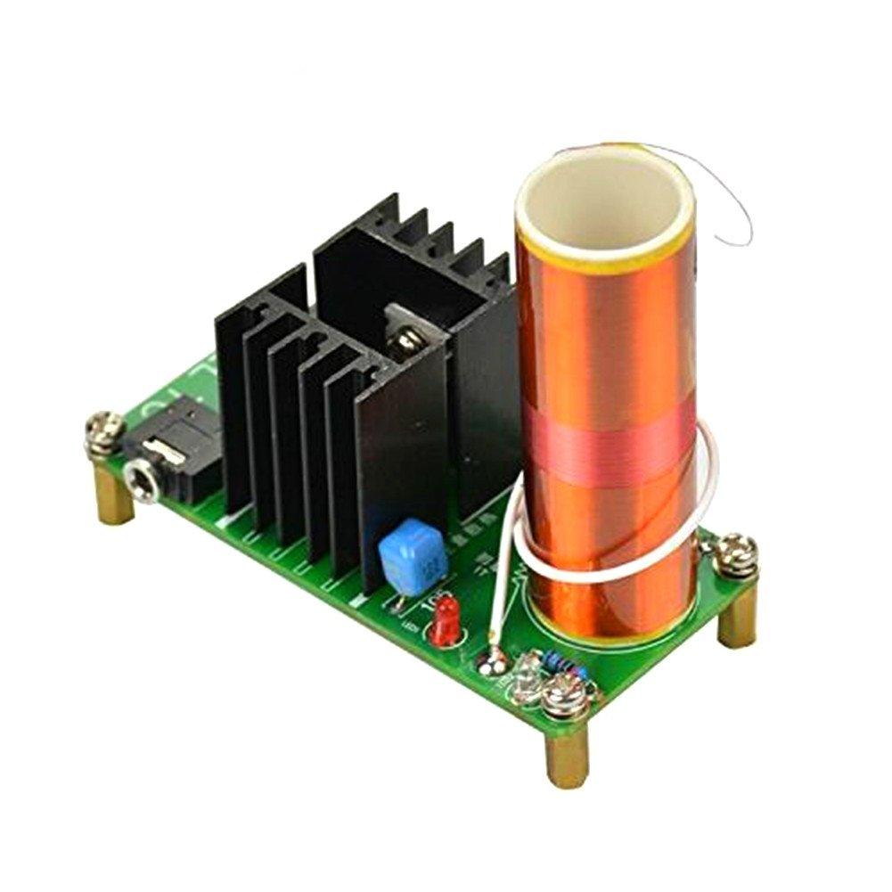 AOSHIKE DC 15-24V 15W Mini Music Tesla Coil Plasma Speaker diy kits plasma loudspeaker Tesla Wireless Transmission Diy KITS 44084